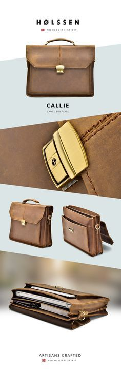 Classic Vintage Professional Briefcase Messenger Bag. For work, school, to carry ipad, macbook, tablets, laptop, and all essentials.