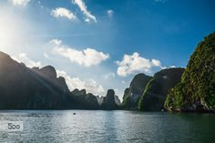 Goodmorning Vietnam! by TimSchoenmakers  Việt Nam blue boat clouds ha long bay ocean sea summer travel viet nam vietnam water TimSchoenmakers