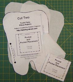 Free Pattern and Directions to Sew a Tooth Fairy Pillow @nadinetafe