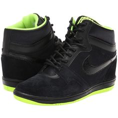 online store 2c200 6d492 Nike Force Sky High Sneaker Wedge Women s Shoes ( 85) ❤ liked on Polyvore  Zapatillas
