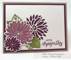 Sympathy Card using Stampin' UP! Special Reason Bundle | Beth's Fancy Stamping