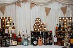 A Charlie Brear Tassel Skirt for a Relaxed and Informal Scottish Wedding Diy Wedding Bar, Tassel Skirt, Wedding Skirt, Liquor Cabinet, Furniture, Home Decor, Casual, Decoration Home, Room Decor