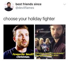"6,401 Beğenme, 86 Yorum - Instagram'da ♡S e b a s t i a n ♡ S t a n (@sebastianstanfan): ""Choose your team! im team Chris for this one. I love Christmas. But I also love all that…"""