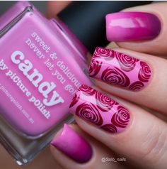 piCture pOlish 'Candy, Flirt + Bonkers' nails by Solo Nails LOVE this look thank you! www.picturepolish.com.au