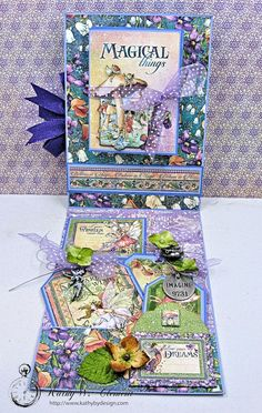 Graphic 45 Fairie Wings Shaker Card Folio Fairie Dust by Kathy Clement Product by Graphic 45 Photo 6