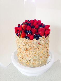 Vanilla almond fruit cake