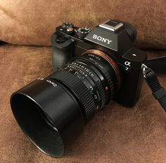 A Sony A7 camera with old manual lenses is just so sexy. Camera: Sony A7 Lens: canon FD 50mm F1.4 #sony #A7 #canon #50mm F1.4