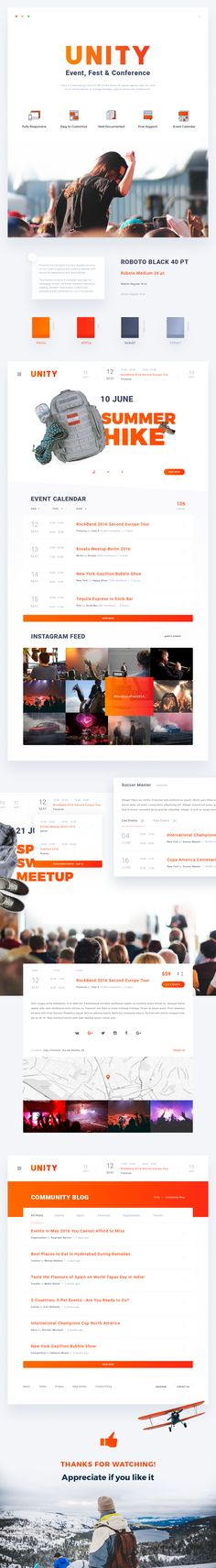 Unity - Event, Fest & Conference on Behance