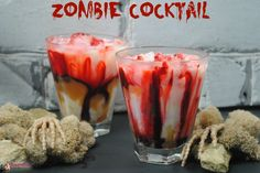 Share Tweet Pin Mail The Walking dead– Zombie cocktail.  This is a Zombie drink with the skin of a human, blood, and cream — gross! I ...