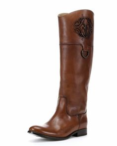 Every Frye boot should be pinned.  Women's Melissa Logo Boot - Saddle