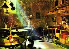 Find images and videos about bar, jazz and jazz club on We Heart It - the app to get lost in what you love. New Orleans Bars, Jazz Lounge, Jazz Cafe, Pub Design, Palette, Exposed Brick, Inspiration, Architecture, Interior