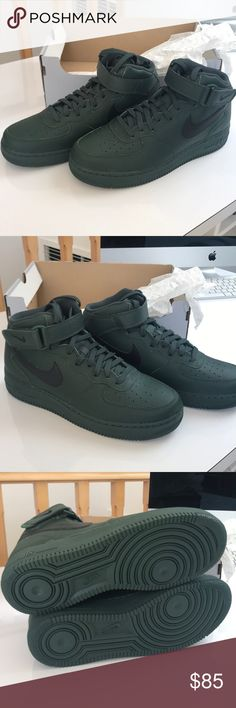66988b829c8e98 Shop Men s Nike Green size Sneakers at a discounted price at Poshmark.  Description  NEW W BOX NIKE Air Force 1 Mid comes with box (missing lid)  Grove Green.