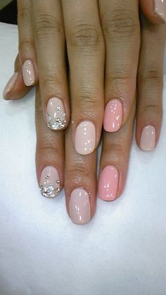 Pink nails #nudenails #neutral #nails