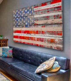 American Flag Pallet DIY   Stylish Patina