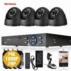 [ $25 OFF ] 4Ch 1080P Network Security Cctv 2.0Mp Waterproof Ip Camera Nvr System H.264 4Ch Poe Nvr Kit Video Surveillance Set Hdmi 1080P