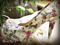 Ich habe meinen Schuh mit Decoupagetechnik aufgehübscht :) Viele Anleitungen und Inspirationen auf http://www.beccioh.de/