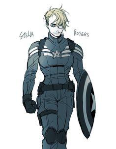 http://captainamerlca.co.vu/post/105875097090/rrrrrrho-captian-america-genderbent genderbent Captain America fan art