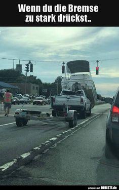 Wenn du die Bremse zu stark drückst..