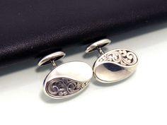 Sterling Silver Cufflinks, Sterling Silver Jewelry, Antique Jewelry, Vintage Jewelry, Etsy Jewelry, Jewelry Shop, Fashion Jewelry, Women Jewelry, Men's Jewellery
