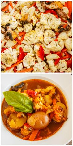 Roasted Vegetable Massaman Curry Soup (Coconut-Free)
