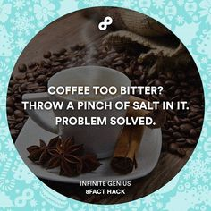 Try with black coffee.  #8fact #8facthack #lifehack