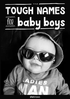"""The following tough baby names with an edge are totally rock-star cool, yet are also fairly easy to spell and pronounce. As you may notice, looking for names with an """"x"""" or """"z"""" instantly gives them a more unique sound. #BabyNames"""