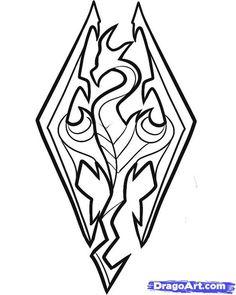 Skyrim Logo Drawing