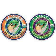 Our Best Lip Balms in Tins Badger Balm 2 oz tin Mint $3.40