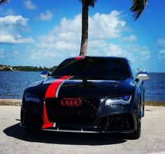 Audi RS6 - ralley stripes and red audi rings