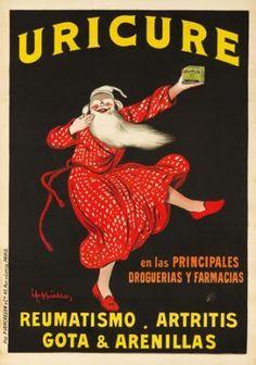 Uricure. c. 1910 Leonetto Cappiello (1875-1942)