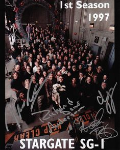 Stargate SG-1 cast and crew (and RDA's dog, too!)
