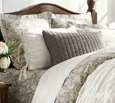 MARI DUVET COVER & SHAM - GRAY; Potter Barn