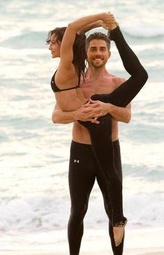 .Beautiful partner yoga