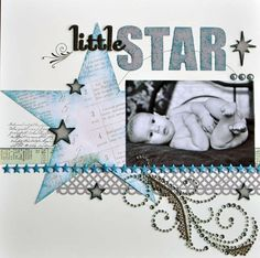 Layout: Little Star   I have this one paper and thanks to this LO I have an idea!