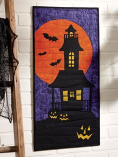 """Fright Night wall hanging pattern, ~14 x 29"""",  by Patrick Lose as seen at Fons and Porter"""