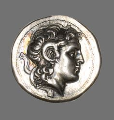 Greek, minted in Ephesus, Asia Minor Tetradrachm (Coin) Portraying Alexander the Great, 306-281 B.C., Issued by King Lysimachus of Thrace