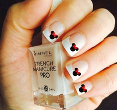 Disney minnie mouse vinyl nail decals, adult and child sizes available! pick your color. Disney Nail Designs, Nail Art Designs 2016, Fingernail Designs, Simple Nail Art Designs, Nail Art Diy, Easy Nail Art, Trendy Nails, Cute Nails, Minnie Mouse Nails