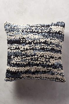 Hand-Knit Shibori Pillow - anthropologie.com