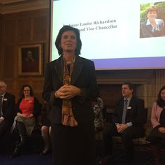 Louise Richardson, the first female Principal and Vice Chancellor of a Scottish university.