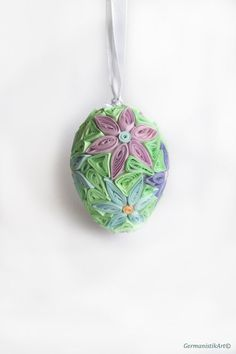 Quilling Easter Decoration Quilled Easter Egg by GermanistikArt, #etsy #easter #quilling