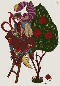 Cheshire Cat&Jackheart(Queen of Hearts's underling) Evil Disney, Disney Nerd, Disney Marvel, Disney Love, Disney Magic, Disney And Dreamworks, Disney Pixar, Gender Bent Disney, Disney Villains Art