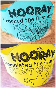 FREE First Day of School Headband Crowns - I rocked the first day of school