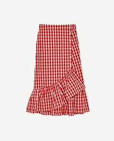 Image 8 of GINGHAM FRILLED SKIRT from Zara