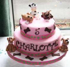 Tiered dog cake