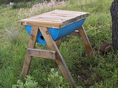 Top bar hive. Easy to manage, it's a great backyard bee hive for beginners.