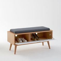 Jimi Entrance Bench - Size: One Size - bench Furniture Inspiration, Creative Furniture, Cool Furniture, Hall Furniture, Furniture Design, Bench With Shoe Storage, Entrance Bench, Interior Furniture, Home Decor Furniture