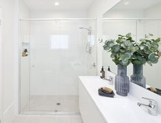 ENSUITE [Master Suite] of Malibu 29 single storey home. On display at Housing World Wongawilli. Part of the Evolve range and brought to you by Masterton Homes Sliding Glass Door, Sliding Doors, Living Area, Living Spaces, Malibu Homes, Comfy Sofa, Storey Homes, New Home Builders, Love Home