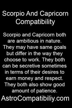 Scorpio and capricorn compatibility sexually