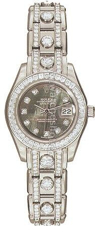 Rolex Oyster Perpetual Lady Datejust Pearlmaster Diamond Ladies Watch 80309PM