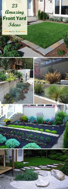 Do you want a theme for your front garden? find here to get a inspiration for your garden... #garden #frontyard #landscaping